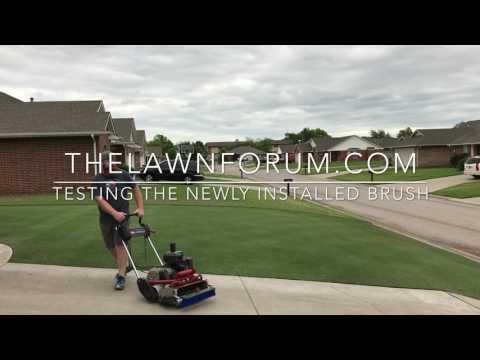 DIY Greens Mower Brush TEST for the Toro Flex21 Reel Mower.