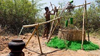 Bamboo Tube Water Wheel From Underground Well