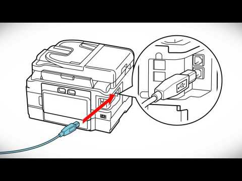 Epson WorkForce WF-3620 | Wireless Setup Using a Temporary USB Connection
