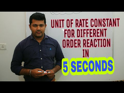 Unit of rate constant for different order reaction | CHEMICAL KINETICS | BHARAT PANCHAL | IIT JEE