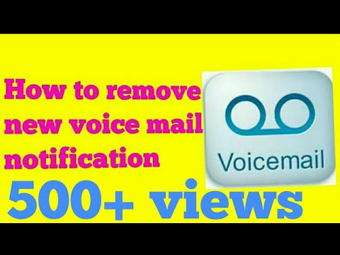 How to remove .. 👉new voice mail notification👈with proof