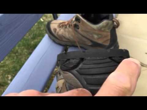 Repaired Merrell hiking boots
