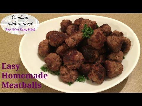 How to make Meatballs - Homemade Meatball Recipe - Italian Meatballs