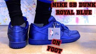 Nike SB Dunk NBA Deep Royal Blue ON FOOT 32d0189a5