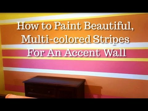 Design Kickstarter - How to Paint Wall Stripes using Three or Four Colors