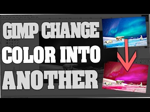 Gimp - How to change one Color into another