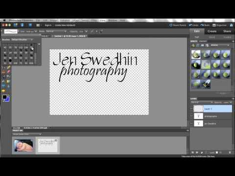 Creating and using watermarks in Photoshop Elements
