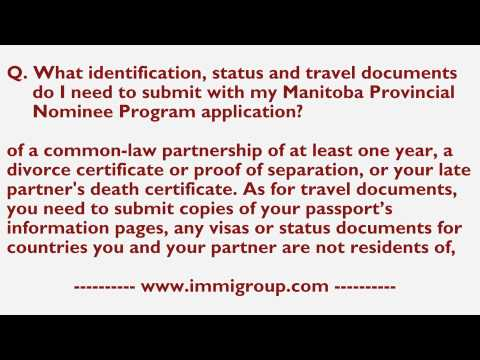 What identification, status and travel documents need to submit with my MPNP application?