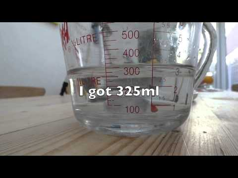 How to measure the density of an irregular object