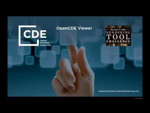 OpenCDE Viewer  HL7 CDA rendering tool challenge.