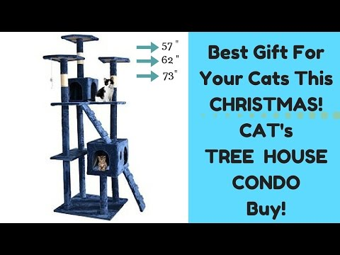 Cat Tree house, Condo Furniture Scratch Post - Amazing Cat house for exercise