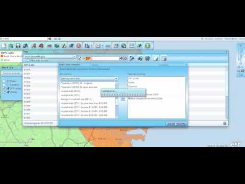 How to Build a Zip Code Map with Demographic Data. A Spontaneous Map Business Online Video