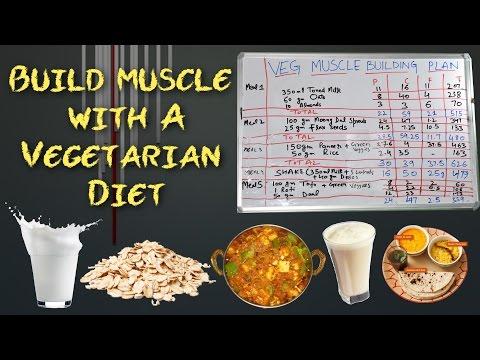 शुद्ध शाकाहारी पुरे दिन का खाना | Vegetarian Body Building Diet Plan | Only Indian Food