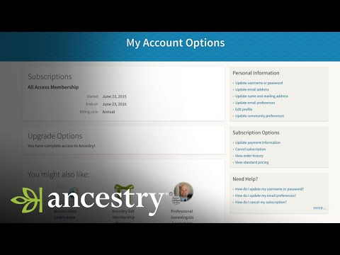 How To Update Your Password Or Username | Ancestry Academy