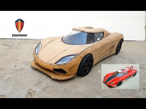 WOW! Super koenigsegg agera|| How to make Agera sports car with cardboard|| DIY|| Electric toy car