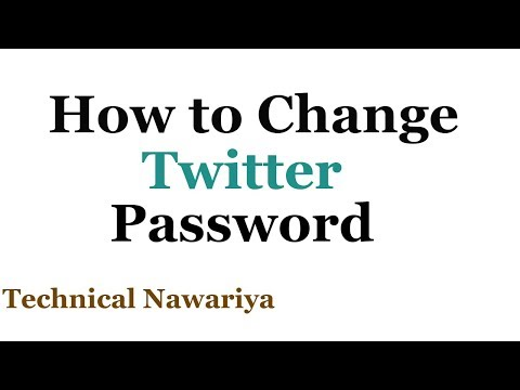 How to Change Your Twitter Password 2018 | How to Reset Twitter Password | 2018