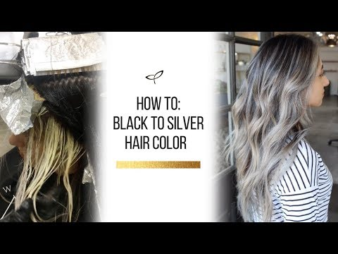 How To: Black to Silver-Blonde Hair