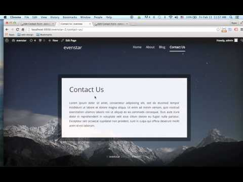 Build a WordPress Website from HTML Template - 9 (Contact Form)