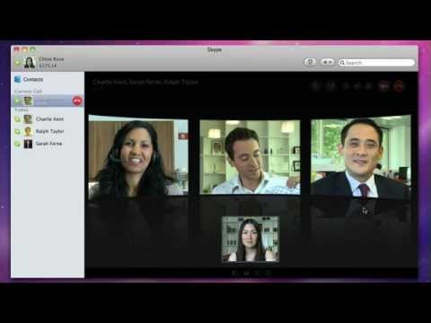 How to make a Skype video conference call - Mac