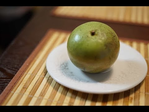 How to eat and cut open milk fruit or star apple