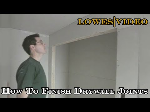 How To Finish Drywall Joints and Screwheads