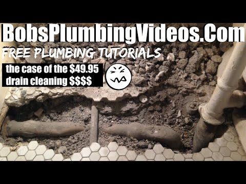 The Leaking Lead Tub Drain for $49.95