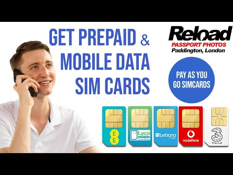 Get Prepaid Sim cards & Mobile Data Sim cards from Reload Internet in Paddington, London