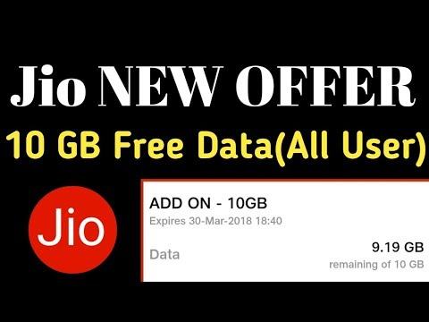 Jio New Offer 2018 | Jio is giving 10GB free data all user (Holi Offer)