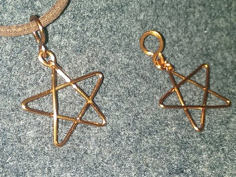 simple copper star pendant for beginners  - DIY wire jewelry 1