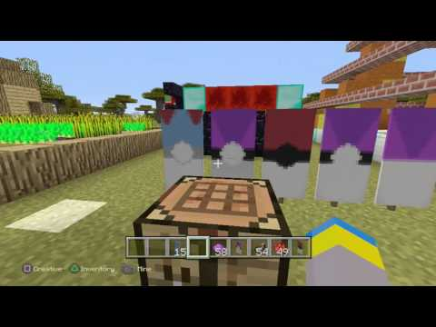 How to make a Poke Ball, Great Ball, and Master Ball banner in Minecraft