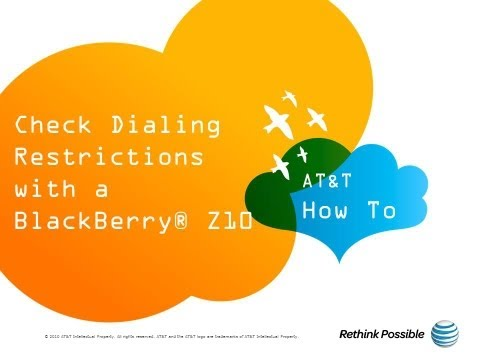 BlackBerry Z10 : Check Dialing Restrictions