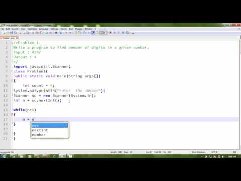 Find number of digit in a given number in java ||Java Programming Problem 1