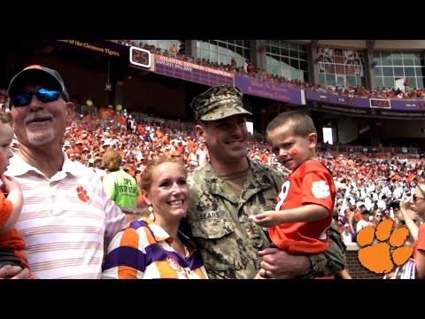 Surprise Military Family Reunion At Clemson Football Game