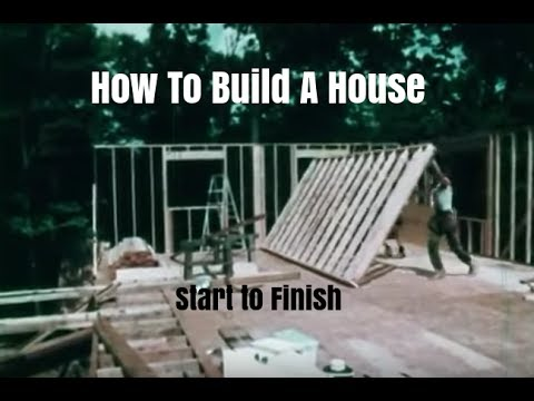 How to Build a Wood Frame House - Construction Steps and Procedures