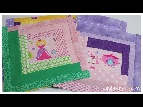 Storybook Cabin Quilt   Log Cabin Block How to   Whitney Sews