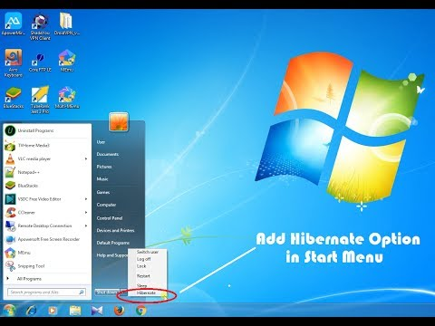 How to Enable Hibernate Option in Windows 7 || Add Hibernate Option in Windows 7