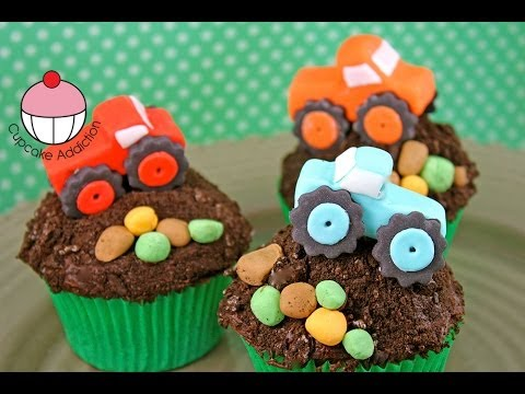 Monster Truck Cupcakes - Simple Sugar Modelling by Cupcake Addiction