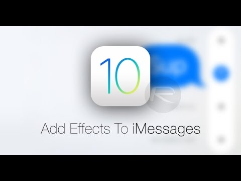 How To Use Imessage Effects On Ios 10
