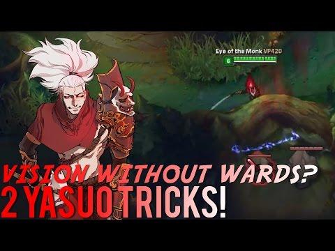 2 High Level Yasuo Tricks /w Vesuvia   Dash through walls, Get vision without wards!