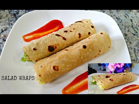 SALAD WRAPS | Black Chickpeas Wraps |Healthy Wrap Recipe | Lunch Idea | ROTI ROLL