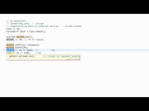 C++ Stream #5: Stream Buffer