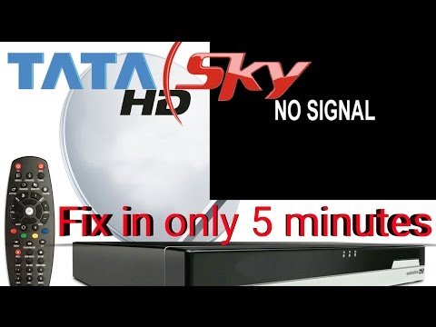how to fix tata sky no signal problem with android app