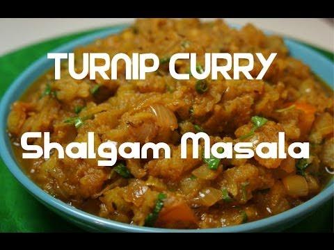 Turnip Curry - Indian Shalgam - Shaljam Masala vegan