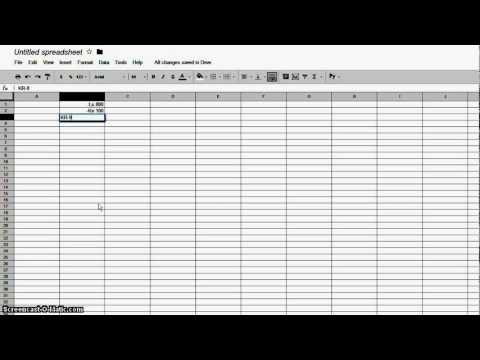 How to auto display currency with spreadsheets