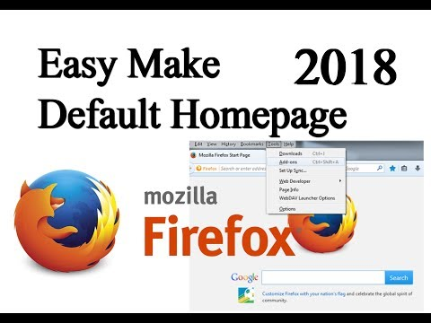 how to make  default homepage in firefox browser, how to make google default homepage