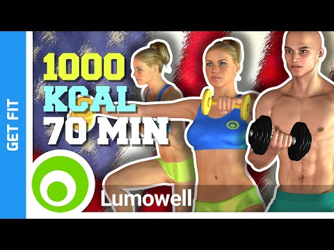 1000 Calorie Workout at Home - Full Body Toning and Weight Loss Exercises
