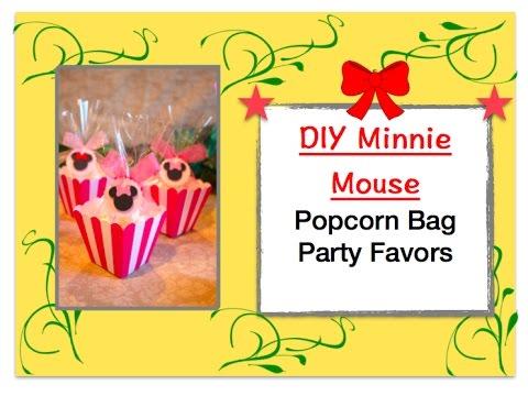 DIY Minnie Mouse Popcorn Box Party Favor Idea- Round Minnie Mouse Diecuts