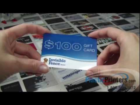 SLEEK And STYLISH Plastic Gift Card for your Business!