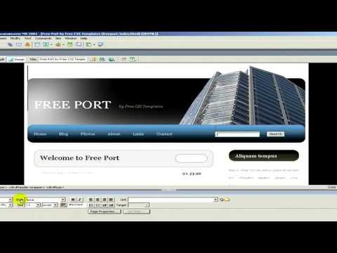 Web Site Design : How to Create a Web Site in Dreamweaver