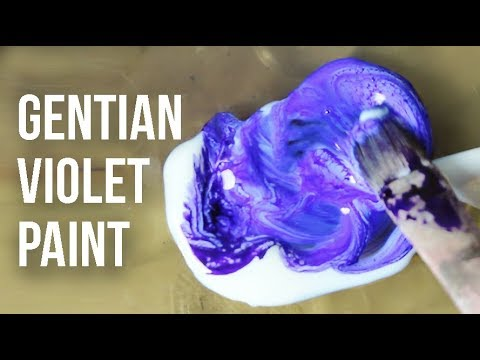Making Acrylic and Oil Paint from Gentian Violet (Crystal Violet)